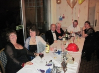 Top table with Sue, Angela, Bill, Jennie, Paul and Donna :: Date 2010:11:20 21:09:18 :: Taken by Nigel Dibben and Neil Garrard :: Camera Canon PowerShot A1100 IS