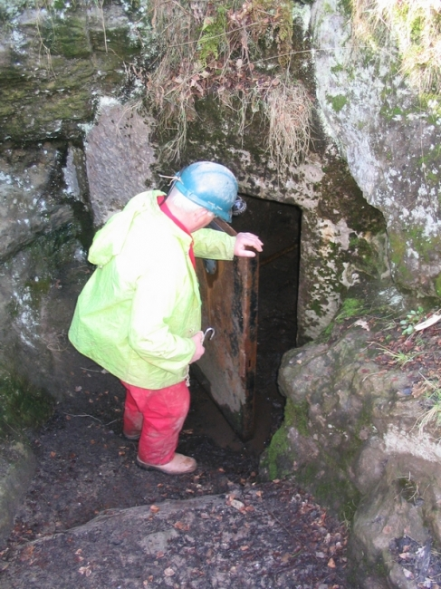 The enlarged entrance to the mine