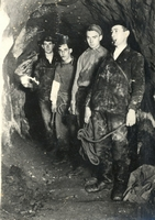 A group of explorers in the Hough Level in the 1930s