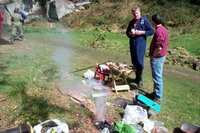 Demonstrating smelting