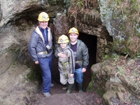 Happy miners - Paul (L), Harry and Steve taken by Julia