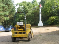 The dumper and rocket took centre stage (have a look at the Rocket page on this site for the full story)