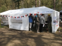 The reception tent in the National Trust yard
