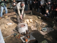 Copper and bronze smelting demonstration
