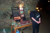Displays in Sand Cavern