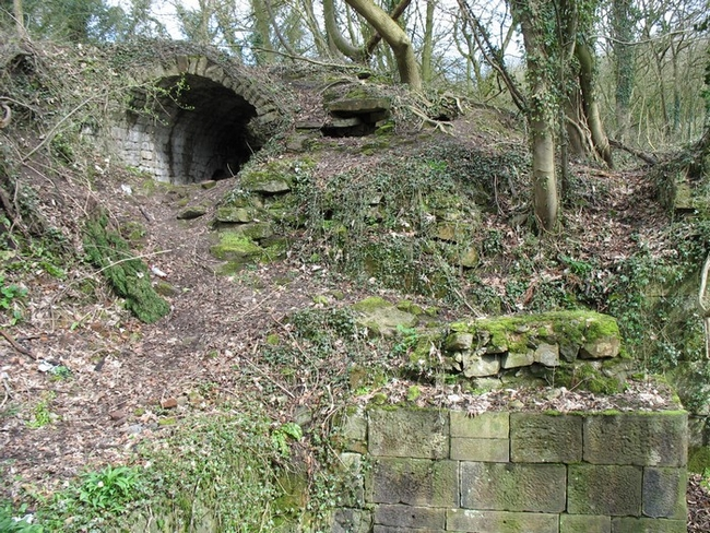 Centre wheel pit at Mellor