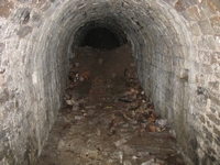 The machinery tunnel to the mill