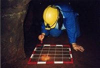 Working in Saddlebole Mine recording a cleaned surface