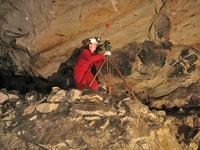 High grade surveying with a theodolite in West Mine