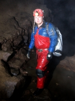 Kieran in Peak Cavern
