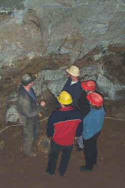 Guided tour in Engine Vein when the mine was floodlit