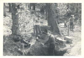 Remaking Wood Mine entrance 1961