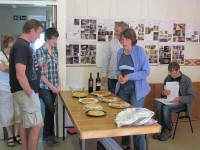 Picture 3: Jane judging  the tortilla contest