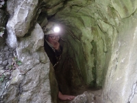 Picture 4: Gina emerging from Bossen Hole
